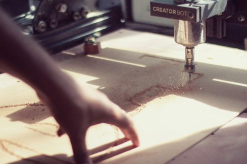 Creator Bot CNC mill in action