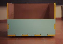 CNC milled material storage furniture