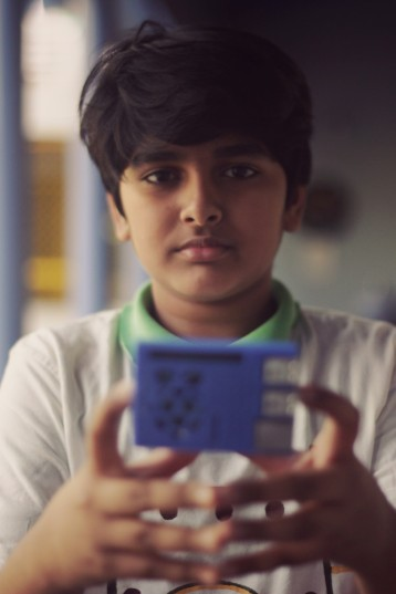 Samarth with his Raspberry Pi.