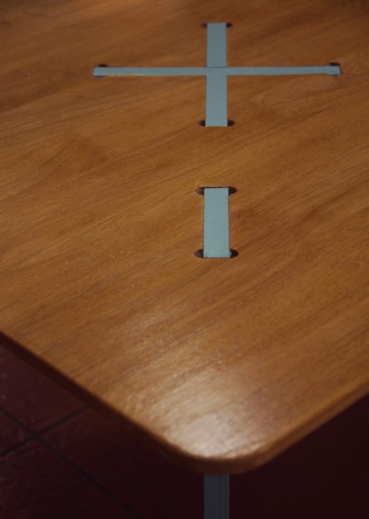 CNC milled table detailing