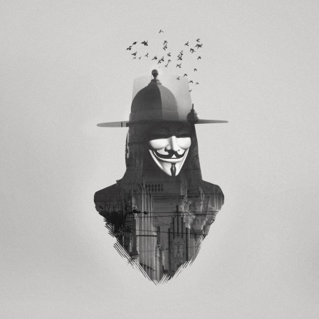 "Double Exposure HUGO WEAVING as V in Warner Bros. Pictures' and Virtual Studios' action thriller ""V for Vendetta."""