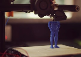 Lord Vader in production using Creator Bot 3D printer