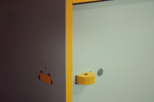 Locking extension and door opening hole