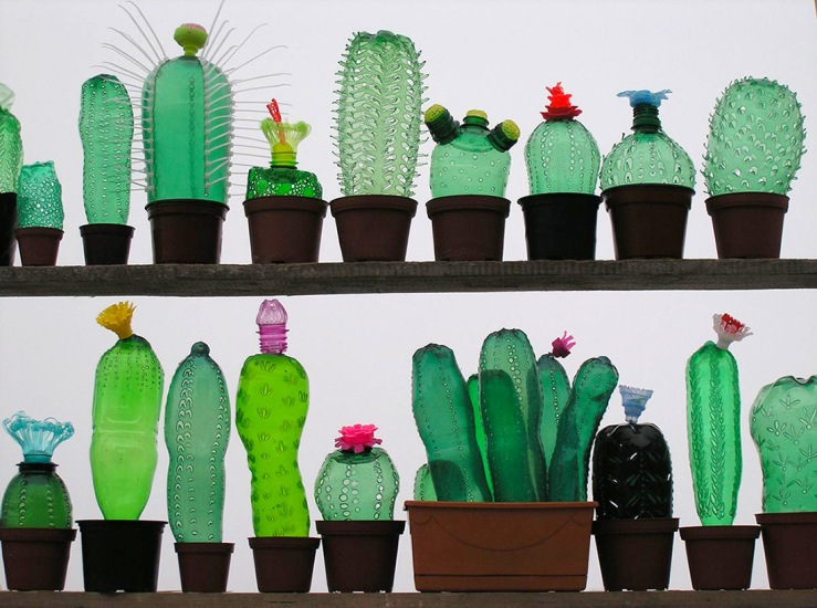 recycled-pet-plastic-bottle-plant-sculptures