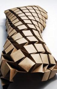 Lasercut Waterbomb origami fold