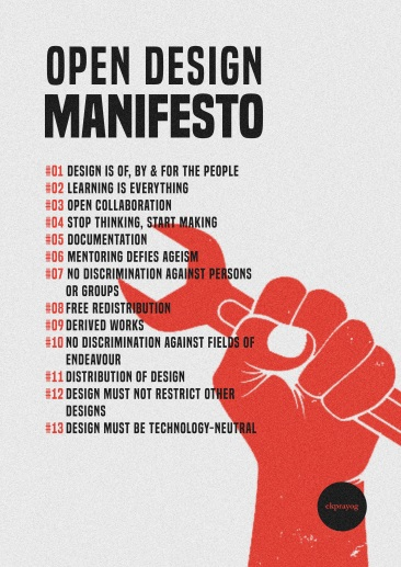 Open Design Manifesto Poster
