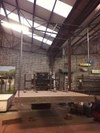 Forklift moving the Platform
