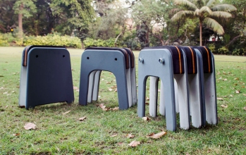 Aishwarya' modular furniture system in stool form