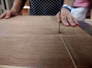 Cutting plywood on bandsaw