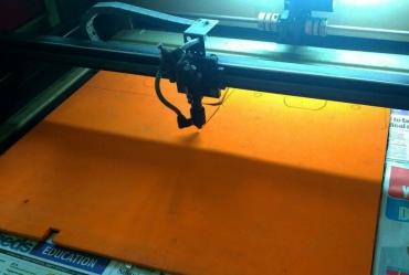 Lasercutting foam pads