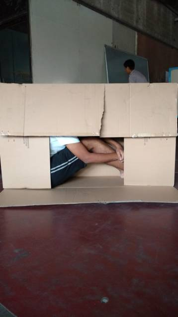 We packed Mayur in the box