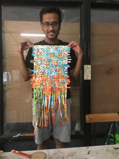 Mayur's Plastic Weaving Sheet in making