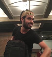 Divleena's headband being passed around to try