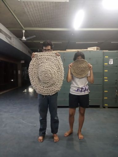 Crochet floor mats