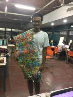 Mayur with the entire woven plastic sheet